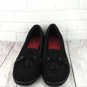 NWT Grasshoppers 12N black suede quilted loafers